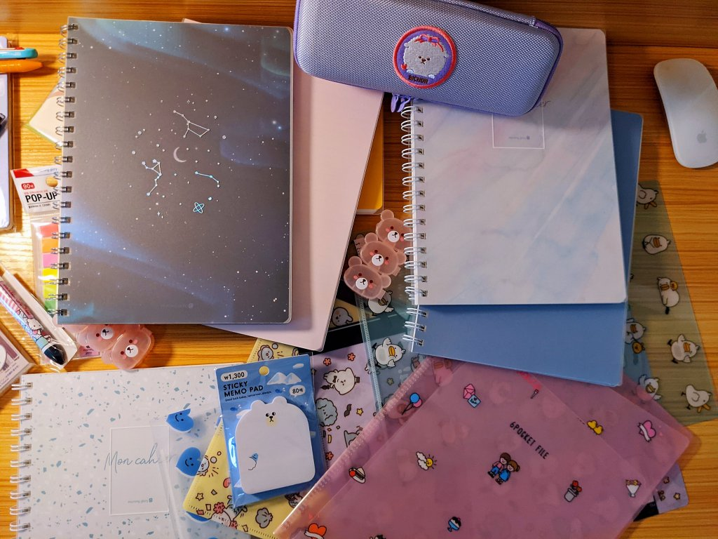 Cute school supplies from Morning Glory.