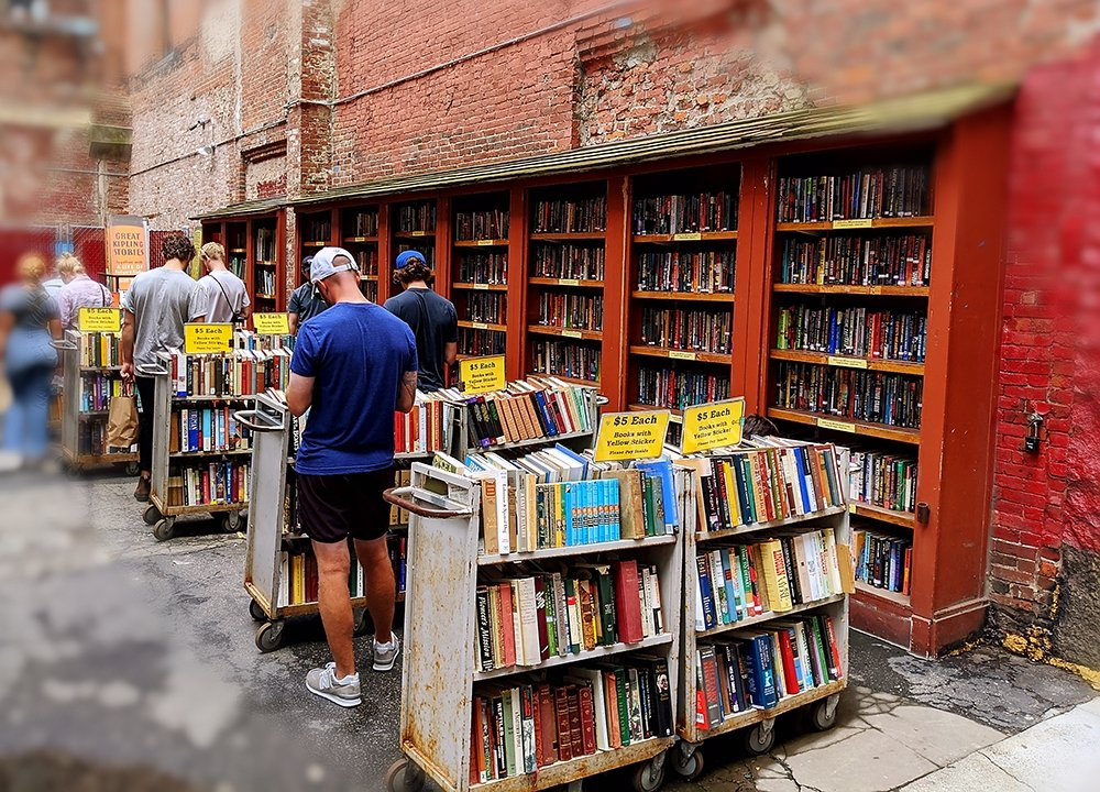 More used books at Brattle Book Shop in Boston.