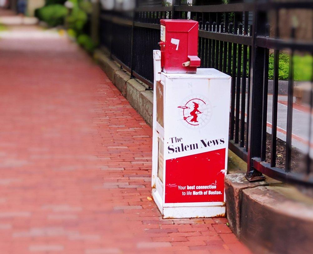 Salem newspaper stand.