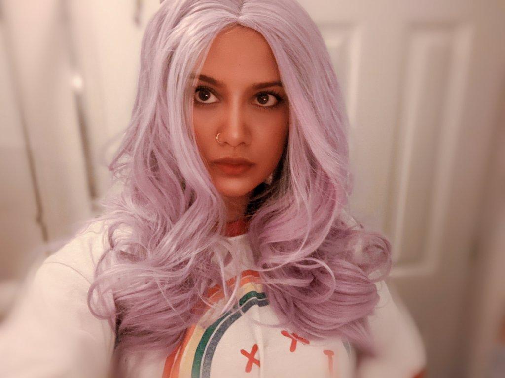Miss Moody Lilac purple wig mml