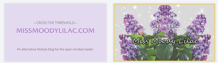 Miss Moody lilac business card