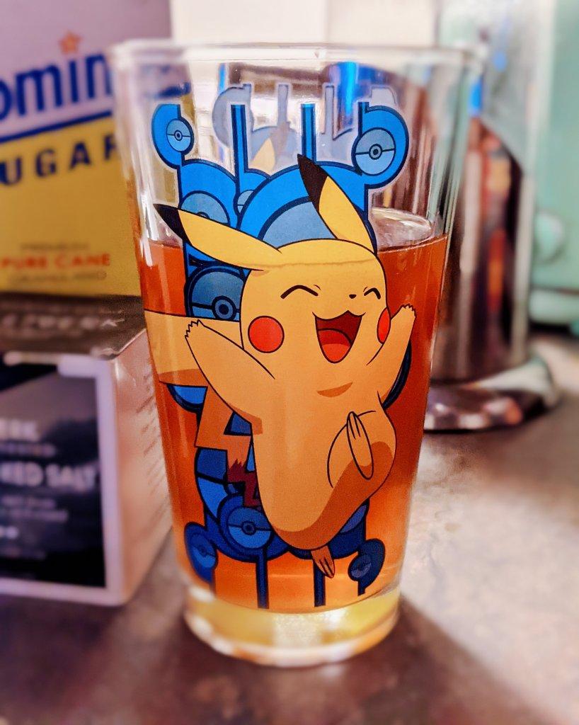 Miss Moody Lilac Steven universe mystery box bonus prize: Pikachu drinking glass!